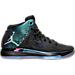 Right view of Boys' Grade School Air Jordan XXXI Basketball Shoes in Black/Metallic Silver