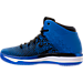 Left view of Boys' Grade School Air Jordan XXXI Basketball Shoes in Black/Game Royal/White