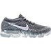 Right view of Women's Nike Air VaporMax Flyknit Running Shoes in Dark Grey/Black/Wolf Grey/Pure Platinum