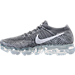 Left view of Women's Nike Air VaporMax Flyknit Running Shoes in Dark Grey/Black/Wolf Grey/Pure Platinum