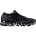 Right view of Women's Nike Air VaporMax Flyknit Running Shoes in Black/Anthracite/Dark Grey