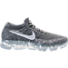 Right view of Men's Nike Air VaporMax Flyknit Running Shoes in Dark Grey/Black/Wolf Grey/Pure Platinum
