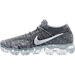 Left view of Men's Nike Air VaporMax Flyknit Running Shoes in Dark Grey/Black/Wolf Grey/Pure Platinum
