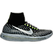 Right view of Women's Nike LunarEpic Flyknit Shield Running Shoes in Black/Metallic Silver/Dark Grey/Stealth