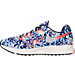 Left view of Women's Nike Air Zoom Pegasus 33 Print Running Shoes in Midnight Navy/Bright Crimson
