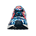 Front view of Men's Nike Zoom Pegasus 33 Jungle Running Shoes in Midnight Navy/Bright Crimson/Silver