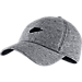 Front view of Nike Sportswear H86 Adjustable Hat in Carbon Heather/Black