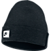 Front view of Unisex Nike Sportswear Tech Beanie Hat in Black/White