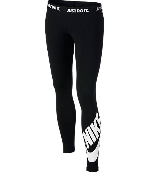 Girls' Nike Sportswear Leg-A-See Logo Leggings