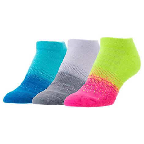 Women's Finish Line No-Show 3-Pack Socks