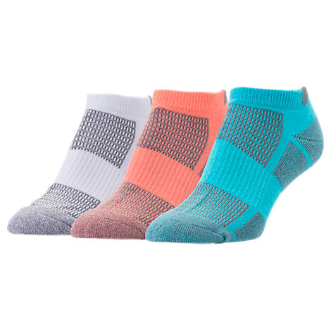 Women's Finish Line Performance 3-Pack No-Show Socks