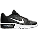 Right view of Women's Nike Air Max Sequent 2 Running Shoes in Black/White/Dark Grey/Wolf Grey/Volt