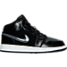 Right view of Boys' Grade School Air Jordan 1 Mid Basketball Shoes in Black/Gym Red/Dark Grey/White