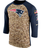 Men's Nike New England Patriots NFL Salute to Service Raglan T-Shirt