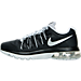 Left view of Men's Nike Air Max Excellerate 5 Running Shoes in Black/Metallic Silver/Wolf Grey