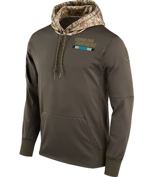 Men's Nike Carolina Panthers NFL Salute to Service Therma Pullover Hoodie