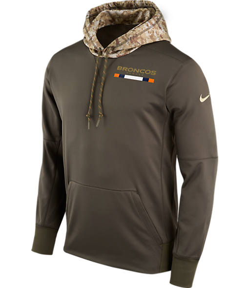 Men's Nike Denver Broncos NFL Salute to Service Therma Pullover Hoodie