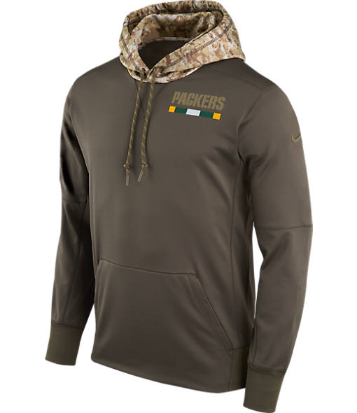 Men's Nike Green Bay Packers NFL Salute to Service Therma Pullover Hoodie