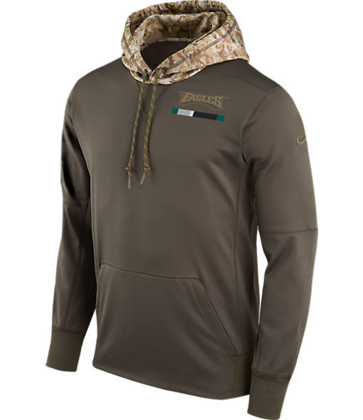 Men's Nike Philadelphia Eagles NFL Salute to Service Therma Pullover Hoodie
