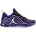 Right view of Boys' Grade School Jordan CP3.X Basketball Shoes in Purple Dynasty/White/Black