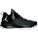 Right view of Boys' Grade School Jordan Extra.Fly Basketball Shoes in Anthracite/White/Black