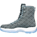 Left view of Men's Air Jordan Future Boots in Cool Grey/White