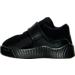 Left view of Boys' Toddler Jordan J23 Training Shoes in Black/Black/Black