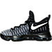Left view of Boys' Grade School Nike KD 9 Basketball Shoes in Black/White