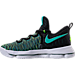 Left view of Boys' Grade School Nike KD 9 Basketball Shoes in 300