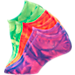 Back view of Girls' Finish Line Fashion 3-Pack Socks in Tie Dye
