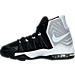 Left view of Boys' Preschool Nike Air Max Audacity II Basketball Shoes in Black/Reflective Silver/White/Platinum