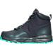 Left view of Girls' Grade School Nike Manoa Boots in Dark Grey/Hyper Turquoise
