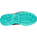 Bottom view of Girls' Grade School Nike Manoa Boots in Dark Grey/Hyper Turquoise