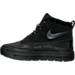 Left view of Girls' Grade School Nike Woodside Chukka 2 Boots in Black/Anthracite