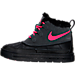Left view of Girls' Preschool Nike Woodside Chukka 2 Boots in 001