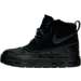 Left view of Girls' Preschool Nike Woodside Chukka 2 Boots in Black/Anthracite