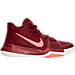 Right view of Boys' Grade School Nike Kyrie 3 Basketball Shoes in Team Red/Hot Punch/White