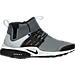 Right view of Men's Nike Air Presto Utility Mid Casual Shoes in Cool Grey/Black/Off White/Volt
