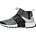 Left view of Men's Nike Air Presto Utility Mid Casual Shoes in Cool Grey/Black/Off White/Volt
