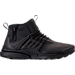 Right view of Men's Nike Air Presto Utility Mid Casual Shoes in Black/Black/Volt/Dark Grey