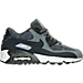 Right view of Boys' Grade School Nike Air Max 90 SE Leather Running Shoes in Cool Grey/Anthracite/White