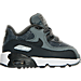 Right view of Boys' Toddler Nike Air Max 90 SE Leather Running Shoes in Cool Grey/Anthracite-Wolf Grey-Whit