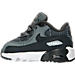 Left view of Boys' Toddler Nike Air Max 90 SE Leather Running Shoes in Cool Grey/Anthracite-Wolf Grey-Whit