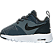 Left view of Boys' Toddler Nike Air Max Tavas SE Running Shoes in Cool Grey/Anthracite/White