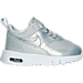 Right view of Girls' Toddler Nike Air Max Thea SE Casual Shoes in Metallic Platinum/PR Platinum