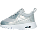 Left view of Girls' Toddler Nike Air Max Thea SE Casual Shoes in Metallic Platinum/PR Platinum