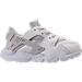 Right view of Girls' Toddler Nike Huarache Run SE Running Shoes in Summit White/Light Bone/White