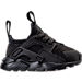 Right view of Kids' Toddler Nike Air Huarache Run Ultra Casual Shoes in Black/Black/Black