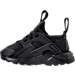 Left view of Kids' Toddler Nike Air Huarache Run Ultra Casual Shoes in Black/Black/Black