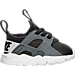 Right view of Kids' Toddler Nike Air Huarache Run Ultra Casual Shoes in Anthracite/Pure Platinum/Cool Grey